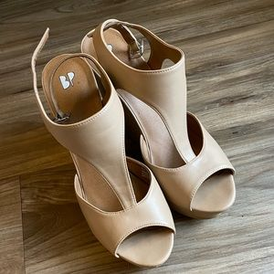 BP Nude wedge heels